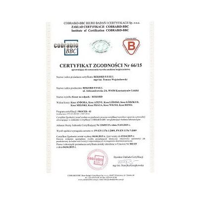 kosz na śmieci z certyfikatem