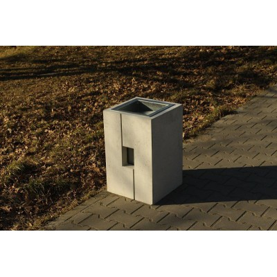 kosz na śmieci z betonu