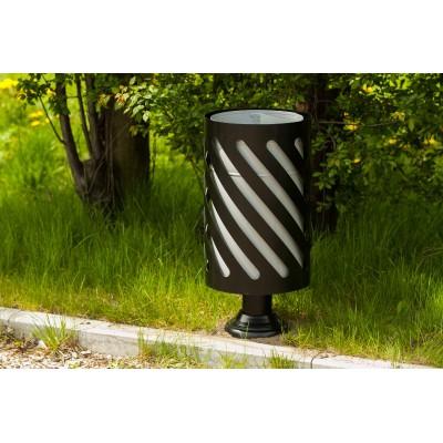 Nowoczesny kosz na śmieci miejski Andora Bis