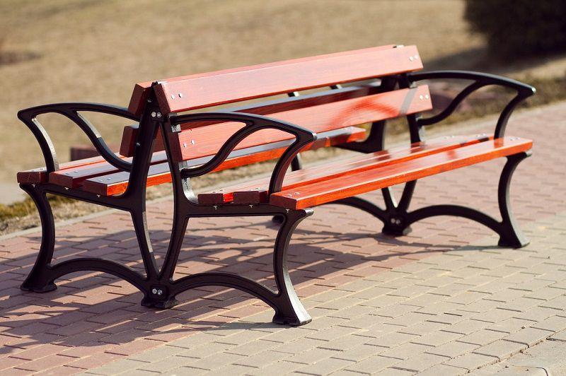 dwustronna ławka parkowa