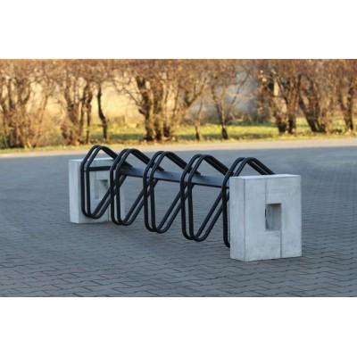Miejski parking, stojak rowerowy Roma