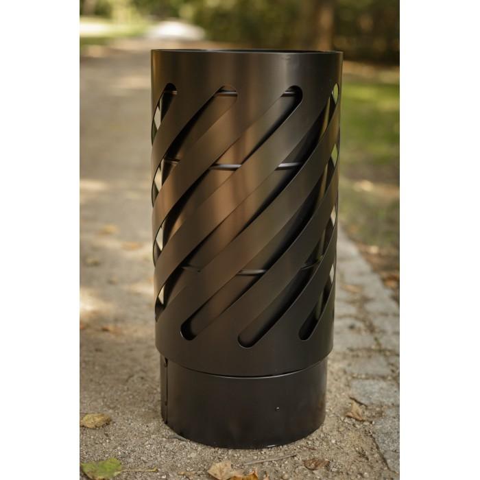 kosz na śmieci stalowy