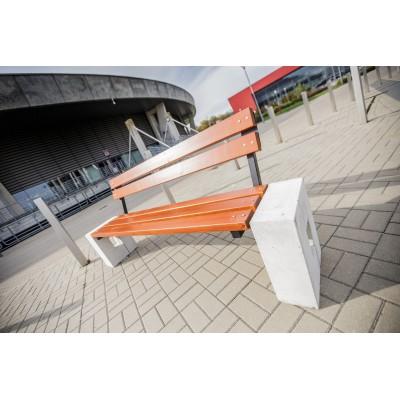 ławka uliczna betonowa