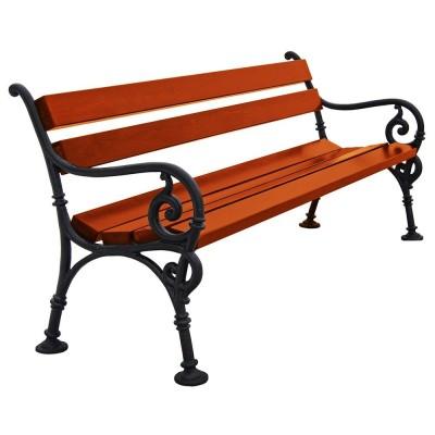 mocna ławka z ładnymi podłokietnikami