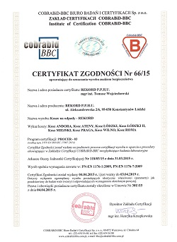 certyfikowany kosz na śmieci do parku